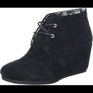 Toms Desert Wedge Bootie - Black - Size 8.5